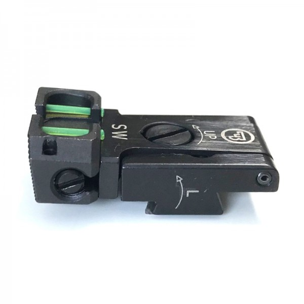 CZ Kimme SW verstellbar Fiber-Optic GREEN | CZ75 SP-01 SHADOW/SHADOW 2