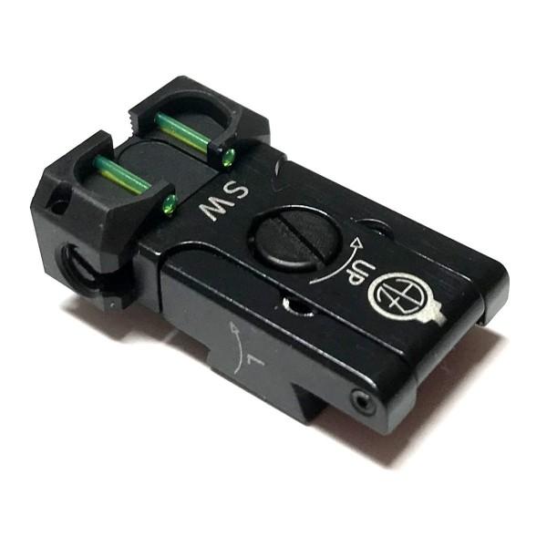 CZ Kimme SW verstellbar Fiber-Optic GREEN | CZ75 SP-01 SHADOW/SHADOW 2
